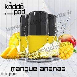 Mangue Ananas - 3 x Pods Nano - KoddoPod Nano - Nouvelle cartouche