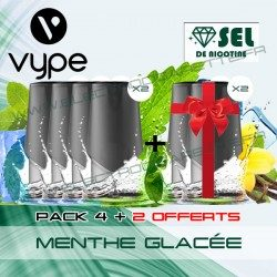 Pack EPEN3PRO Pod Vype ePen 3 Pro Menthe Glacée - Vuse (ex Vype) - Sel de nicotine - 4 plus 2 offerts