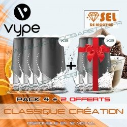 Pack EPEN3PRO Pod Vype ePen 3 Pro Classic Création - Vuse (ex Vype) - Sel de nicotine - 4 plus 2 offerts