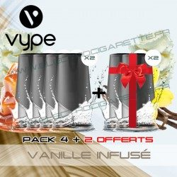Pack EPEN3 Pod Vype ePen 3 Vanille Infusé - Vuse (ex Vype) - 4 plus 2 offerts