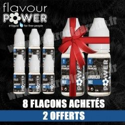 Pack 6 flacons + 2 offerts - American Mix - Flavour Power